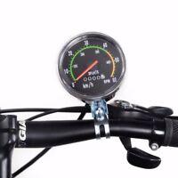 Tachometer Analog Fahrrad Kilometerzähler km/h rpm Tacho Computer mit Kabel MTB