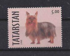 Dog Photo Body Portrait Postage Stamp Australian Silky Terrier Tatarstan Mnh