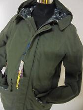 Cappotto lungo Parka Uomo shop Art giaccone Verde Militare cappuccio cotone L Large