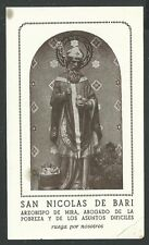 image pieuse ancianne San Nicolas de Bari santino holy card estampa