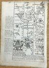ABINGTON TO MONMOUTH OWEN BOWEN COUNTY MAP C1720 BRITANNIA DEPICTA UNCOLOURED