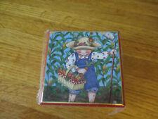 New in pkg Mary Engelbreit Pooch & Sweetheart Cardboard Trinket Box Garden Rain