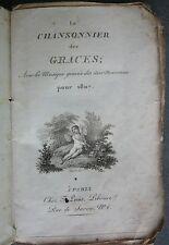 Le Chansonnier des Grâces pour 1807 avec la Musique Gravée des airs nouveaux