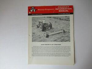 Massey Ferguson MF 40 hay conditioner product information brochure