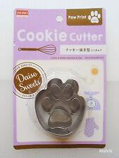 Daiso Japan PAW PRINT Cookie Cutter 6cm x 3cm per die, Stainless Steel