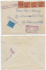 51203 - USA - Einschreiben nach Schwarmstedt, Kr. Fallingbostel - Vorderseite