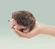 "Folkmanis Finger Puppets 4"" Mini Hedgehog plush, NEW"