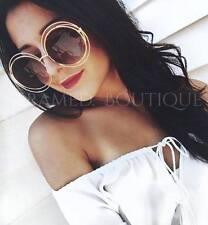 Diseñador de oro de gran tamaño Gafas de sol redondas Boho Festival Celebridad Most Wanted .19