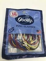 Vintage 1999 Goody Ponytail Holder Pony Elastics Rubber Bands Pkg 18 USA Solid