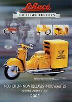 Schuco Neuheiten Sommer 2005 Prospekt Modellautos Spielzeug brochure model cars