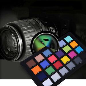 Andoer 24 Color Checker Farbkarte für überlegene digitale Farbkorrektur Q4V8