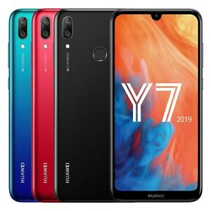"Huawei Y7 2019 DUB-LX3 Dual (FACTORY UNLOCKED) 6.26"" 32GB 3GB RAM Black Blue Red"