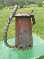 Vintage Penn Ala N. Y. City Approved No. H 27 Gallon Oil Can w/ Flexible Spout