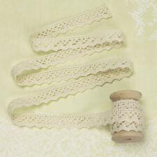 2 Yards - Ivory Cotton Lace Trim Fabric Bridal Wedding Dress Scrapbook Crafts L7