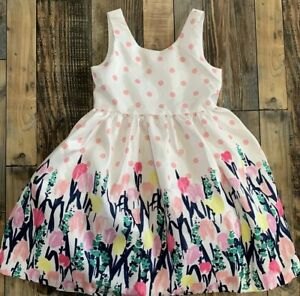 NWT GYMBOREE Girls Dressed Up Floral Tulips Easter WEDDING DRESS Size 5