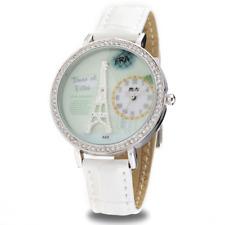 Orologio MINI WATCH 3D ref. MN8888 Donna cassa acciaio con strass pelle bianco
