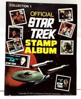 Original 1973 Official Star Trek Stamp Album w All Stamps Intact (J-6072)