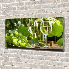 Leinwandbild Kunst-Druck 120x60 Bilder Essen /& Getränke Weißwein Früchte