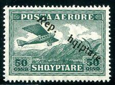 ALBANIEN 1927 147 ** POSTFRISCH ABART fehlendes S in Shqiptare (49879