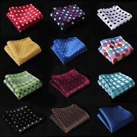 "HOT 10"" Polka Dot Men Silk Satin Hanky Wedding Party Handkerchief Pocket Square"