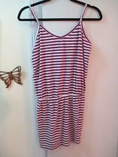 FOREVER 21 - Purple & White Striped Sleeveless Stretchy Knit Tunic Dress  Size M
