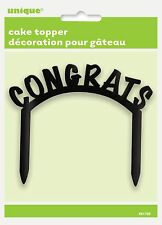 Congrats Cake Topper Black Cake Topper