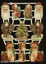 Die Cut Scrap German Victorian Style Embossed - Christmas / Santa  NICE  EF7285