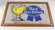 Pabst Blue Ribbon beer mirrored bar sign man cave