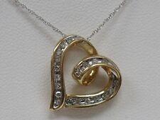 10K GOLD Genuine DIAMOND Heart Designer Pendant - GORGEOUS!