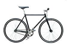 """WOO HOO BIKES - CLASSIC BLACK 19"""" - Fixed Gear Bicycle, Fixie, Track Bike"""