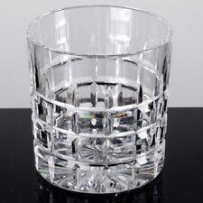 1 Tumbler Whiskyglas Becher Glas Kristall Quadrat Schliff Bodenstern 8 cm hoch