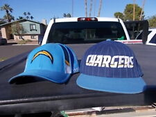 Pair Used  San Diego Chargers NFL Football Team Bolt Logo Fitted  Ball Cap Hats