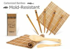 Kit De Bambú Para Preparar Sushi Esterillas Palillos Cuchara Japonesa