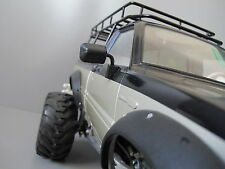 Black Pair Rubber Side Mirror Tamiya RC 1/10 Toyota 4x4 Pick Up Bruiser Hilux