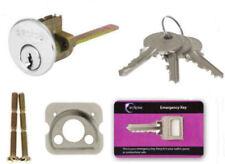 4 Key CHROME Replacement Rim Cylinder Barrel Nightlatch Front Door Lock YaleType