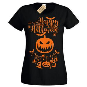 Happy Halloween T-Shirt Zucca Inquietante Donna