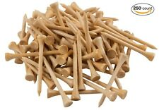 "New 250 Bamboo Golf Tees 7x Stronger than Wood 2-3/4"" Height - PGA Approved"