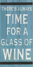Large TIME FOR WINE Wood Panel & Metal Accent Wall Decor Kitchen Decor or Gift