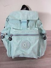 Kipling Backpack Handbag Green Nylon Durable Travel Hands Free