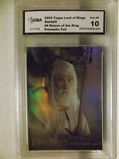 2003 Topps Lord of the Rings Gandalf #4 Return of the King Prismatic Foil Graded