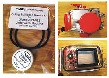 Spare O-ring & Silicone Grease Kit for Olympus PT-32 Underwater Housing Case