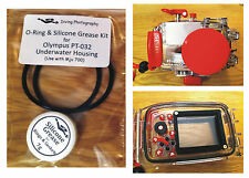 Repuesto Junta tórica y grasa de Silicona Kit Para Olympus pt-32 Carcasa submarina caso
