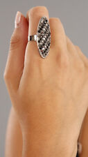 Funky Girl Bling Jewelry Oval Crystal Ring