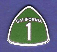 CALIFORNIA 1 PACIFIC COAST HIGHWAY HAT PIN LAPEL PIN TIE TAC ENAMEL BADGE #1464