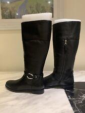Ralph Lauren Black Leather Knee High Boots Flat UK 6 EUR 39 US 8B