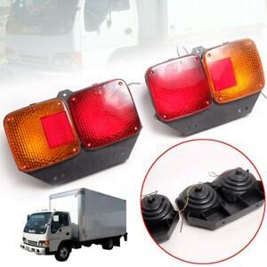 For 10-2014 Hino Kt 725 Kb Kl Kr Truck Fuso Tail Lamp Light Pair Lr Universal