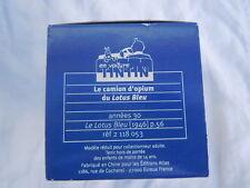 Le camion d'opium du lotus bleu Hergé Moulinsart En voiture Tintin