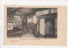 Zaandam Binnenkammer Czaarpeterhuisje Netherlands Vintage U/B Postcard 405b