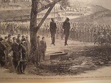 Execution Hanging Rebel Spies 1863 antique Harpers Civil War print