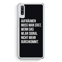 Aufräumen muss man erst BK Samsung Galaxy A70 Hülle Motiv Design Spruch Lusti...